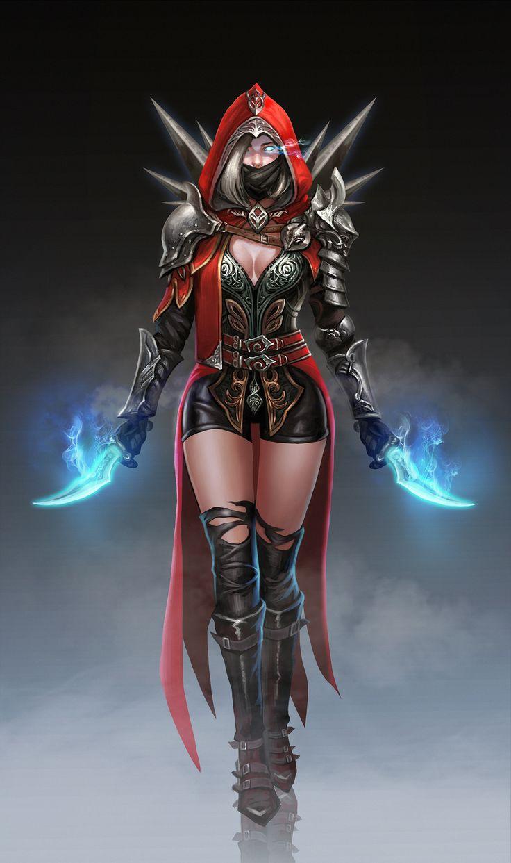 ArtStation - Female assassin, Frank Lee