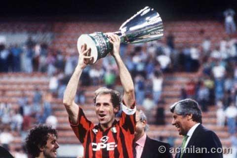 AC Milan home.  1994 - 1995.  Baresi, Gullit, Desailly et al.