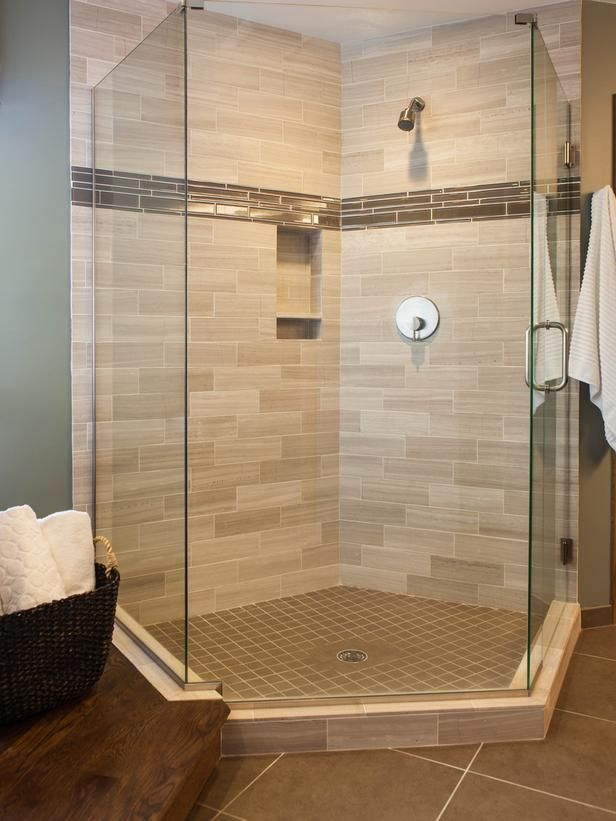 In the Clear in Bathroom Tile - varying shapes and sizes!