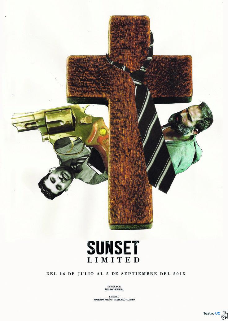 "Proyecto Afiche obra de teatro ""Sunset Limited"". Camila Toledo."