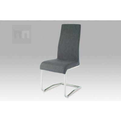 Jídelní židle potahová látka šedá  AC-1950 GREY2