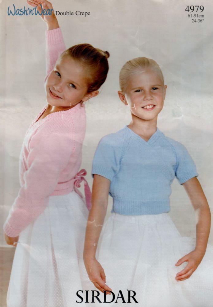 c12eb4eb6b7f Original Vintage Knitting Pattern Sirdar 4979 Girls Ladies Ballet ...