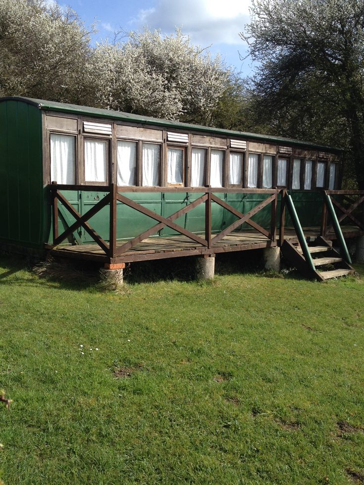 Beautiful Victorian railway carriage conversion at Thorness Bay, Isle of Wight.