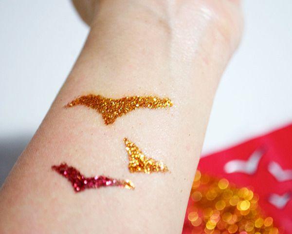 DIY Glitter Tattoos | Beautylish