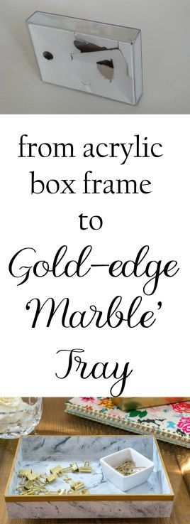 Turn an inexpensive acrylic box frame into a great 'marble' tray for…