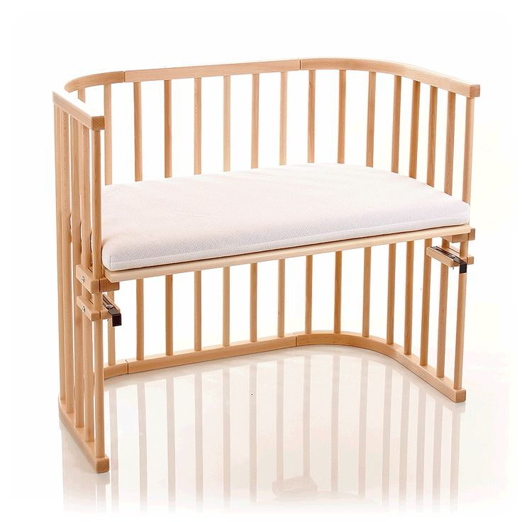 Babybay Maxi with Foam Mattress & Side Rail - Beech