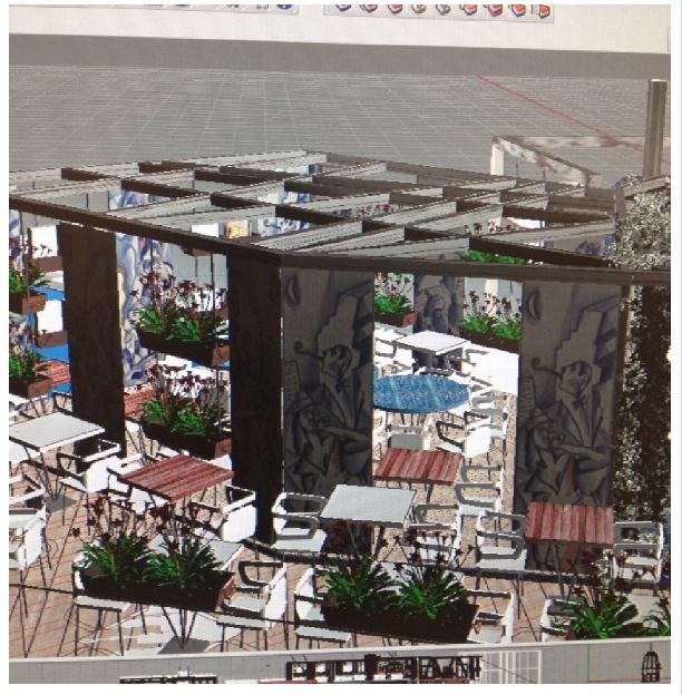 Designing of Marechiaro Pizza, Mykonos