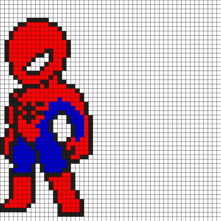 Spiderman Perler Bead Pattern - Visit to grab an amazing super hero shirt now on sale!