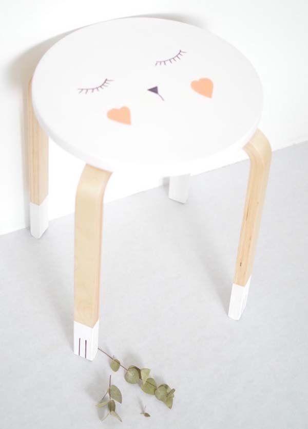 H A B I T A N 2 Decoración handmade para hogar y eventos www.habitan2.com  ikea-hack-taburete-frosta photo