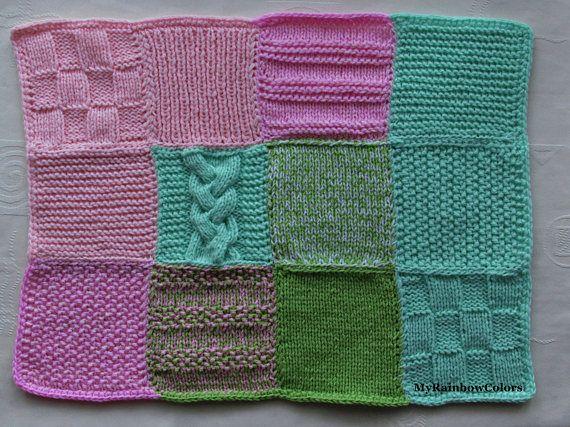 Fidget Blanket Sensory Blanket Knit Alzheimer Blanket Base