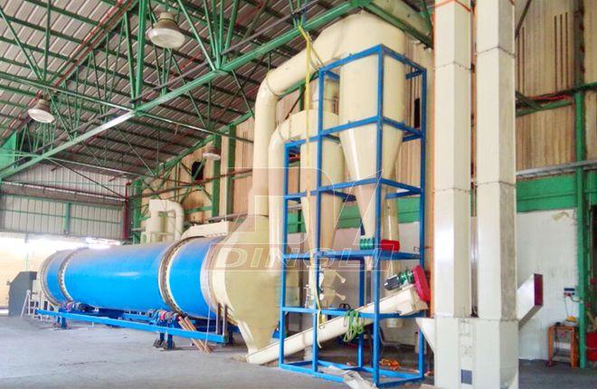 Single Drum Rotary Dryer Bulk Density Pellet Fuel Energy Technology