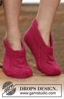 """Knitted DROPS slippers in """"Big Fabel"""". Size 35 - 43. ~ DROPS Design"""