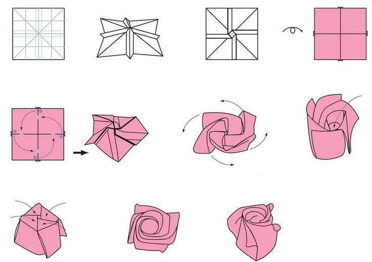 die besten 25 origami rose ideen auf pinterest origami liebe origami blumen und origami kurs. Black Bedroom Furniture Sets. Home Design Ideas
