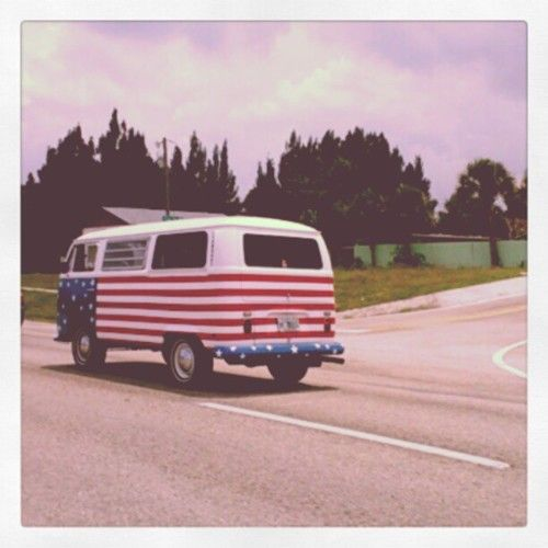 Happy 4th all the way from Germany says the VW bus....funny its from Germany lol