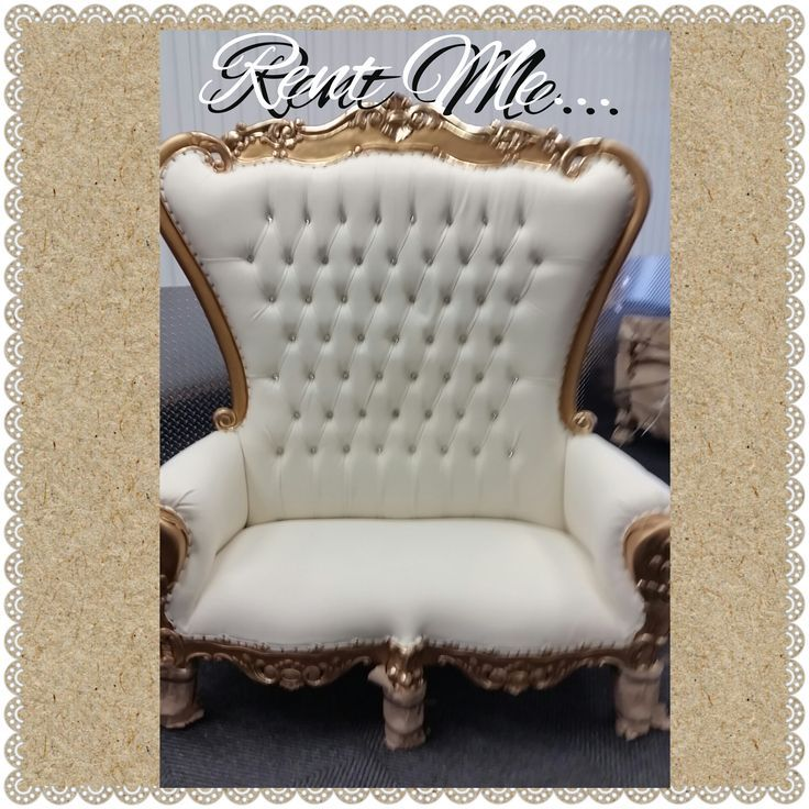 White And Gold Chair Rental Baby Shower Chair Shower Chair Chair