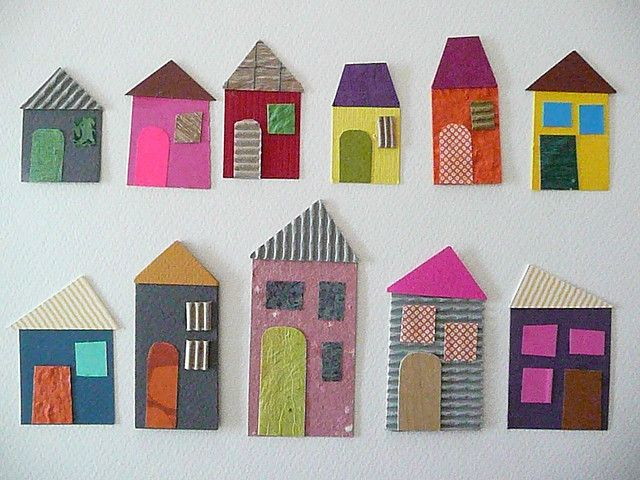 Would love to make a quilt wit these houses.