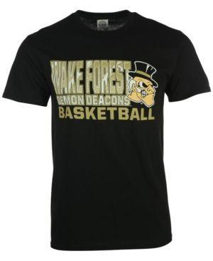 J America Men's Wake Forest Demon Deacons Basketball Stack T-Shirt - Black XL