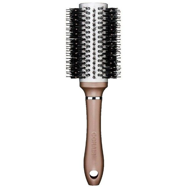 Conair Double Ceramic Large Porcupine Round Brush (14 CAD) ❤ liked on Polyvore featuring beauty products, haircare, hair styling tools, brushes & combs, beauty, hair brushes, multicolor, conair, hair brush and hair brush comb