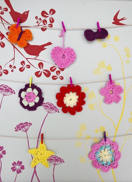 Easy and cute crocheted things tutorial - Petites choses faciles et mignonnes à faire au crochet  tutoriel