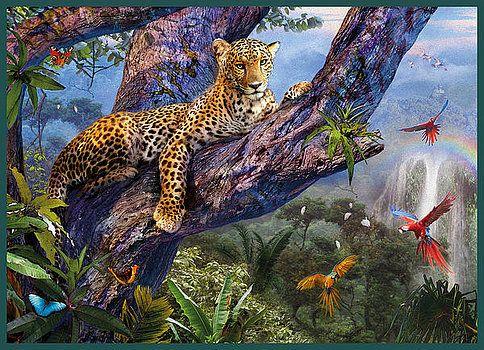 Ян Патрик Красный - Леопард на дереве