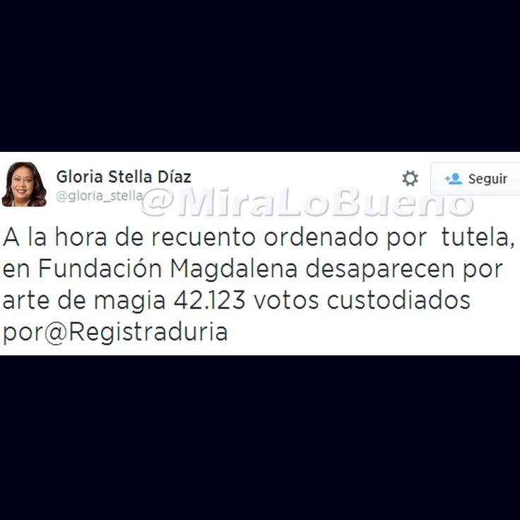 @Gloria_stella en #Fundación #Magdalena desaparecen 42.123 votos.
