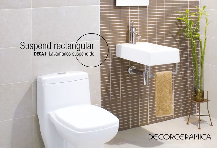 Mira el lavamanos suspendido que necesitas La consigna para la remodelación que vamos a emprender juntos es optimizar espacio sin ir en detrimento de la estética. Para ello te recomendamos este lavamanos de delicadas líneas rectas que ocupa poca área, e incorpora un cómodo y práctico toallero. Su diseño moderno está pensado para los baños pequeños de hoy. Algo más que quieres saber del lavamanos SUSPEND RECTANGULAR de la marca DECA Klipen http://bit.ly/20PABIT  #decorceramica #baños
