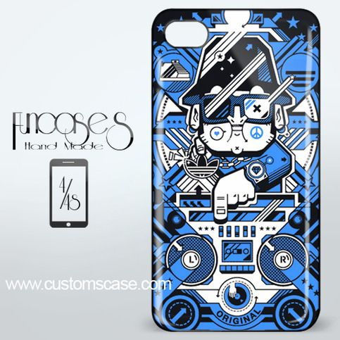 B-Boy DJ Remix iPhone 4 or 4S Case Cover from Funcases