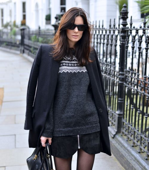 Hedvig Opshaug 18.01.2014-2 The Northern Light knit sweater stella mccartney coat bag Tod's