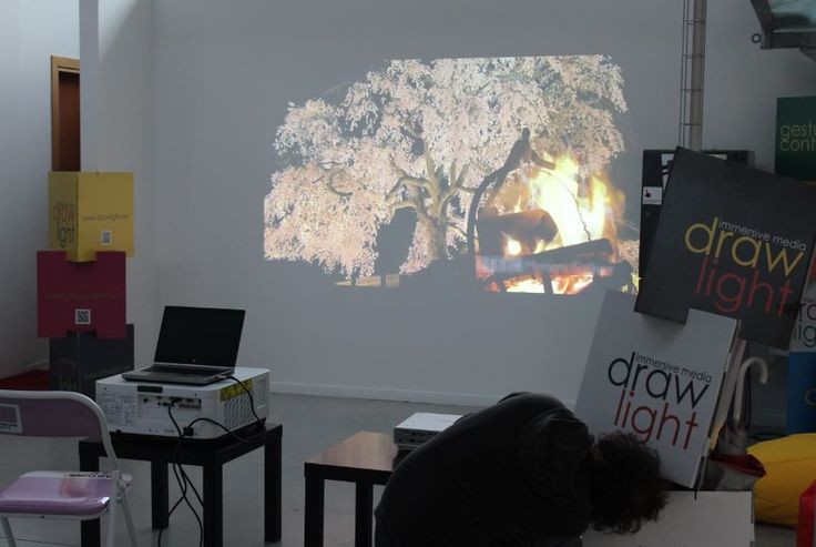 Testing a new projector...but what is Lorenzo doing?