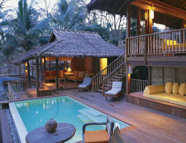 Traditional Tropical House Ideas With Small Swimming Pool