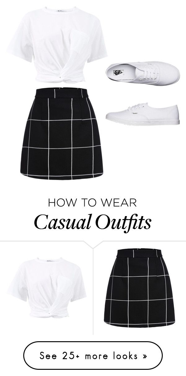 """""""casual cool"""" by cindystyleu on Polyvore featuring T By Alexander Wang and Vans"""