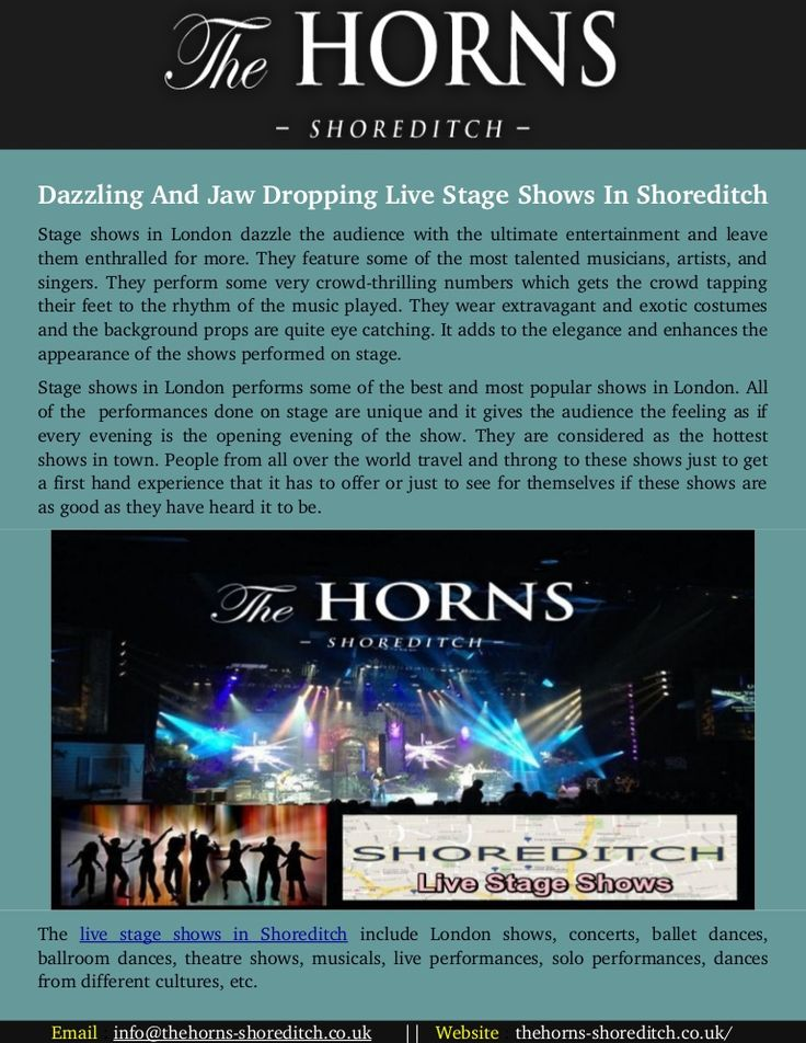 Pin On Live Stage Shows In Shoreditch