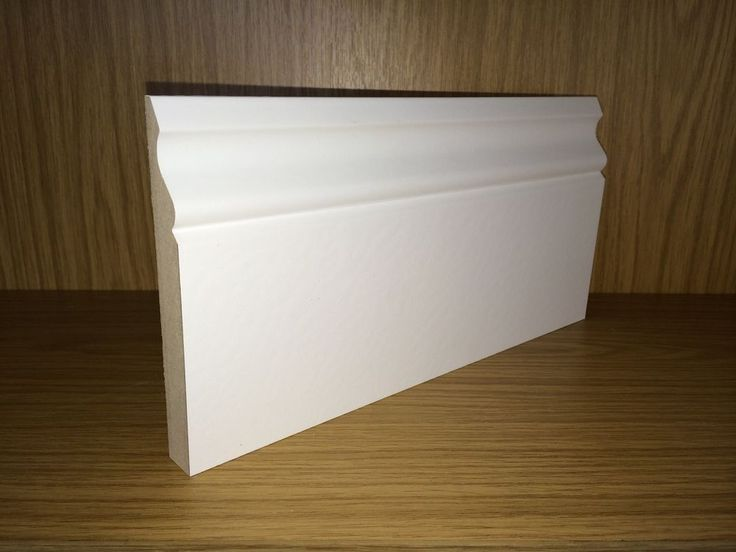 White Primed MDF Ogee Skirting Board - 18x144mm