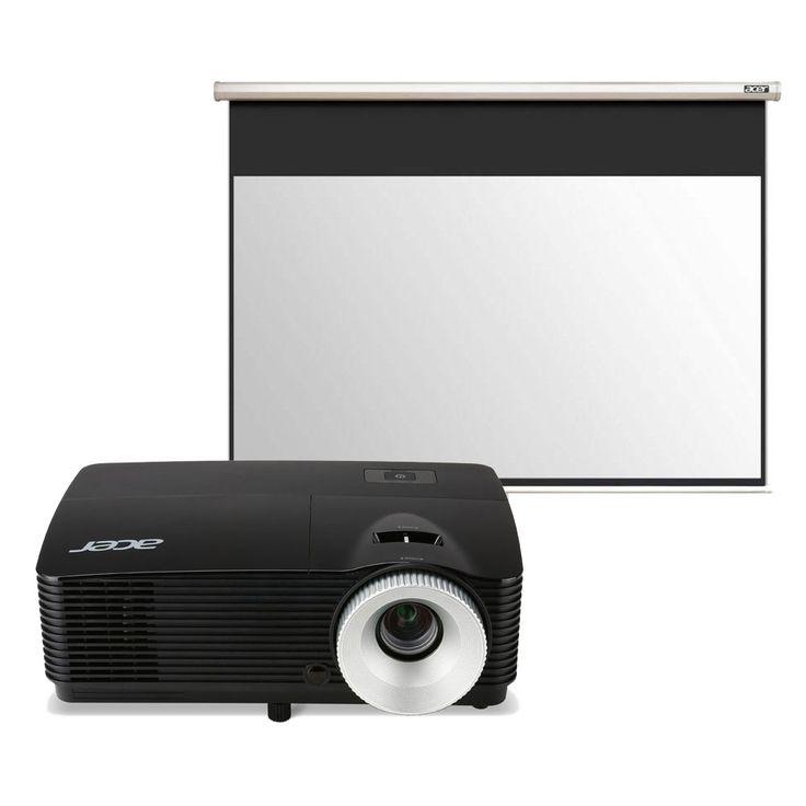 Vidéoprojecteur Acer X152H + Acer M90-W01MG Vidéoprojecteur DLP Full HD (1920 x 1080) 3D Ready 3000 Lumens - HDMI/USB (garantie constructeur 2 ans) + Ecran manuel - Format 16:9 - 196 x 110 cm