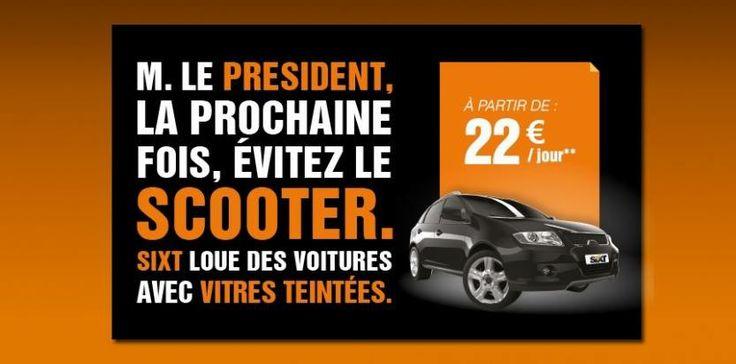 Sixt le loueur de voitures allemand se joue l'affaire Hollande / Gayet. Regardez!