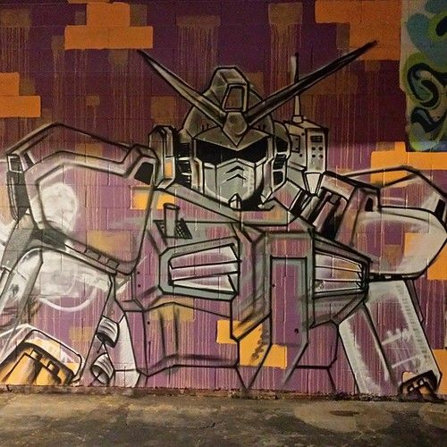 More progress #gunpla #gundam #graffiti #art #graff #rustoleum #molotow #ironlak photo by tragicmagic2013