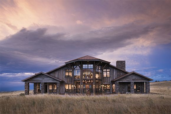 IN THE RUGGED BEARTOOTH MOUNTAINS NEAR RED LODGE, MONTANA, A FAMILY FORGES AN IMPRESSIVE RETREAT FROM RECLAIMED MATERIALS AND THE REGION'S RICH HISTORY.    PHOTOGRAPHY BY ROGER WADE When the Sundance Kid robbed the local bank and escaped…   Red Lodge, Montana, was officially on the map. Over a hundred years later, when Bart and Betsy …