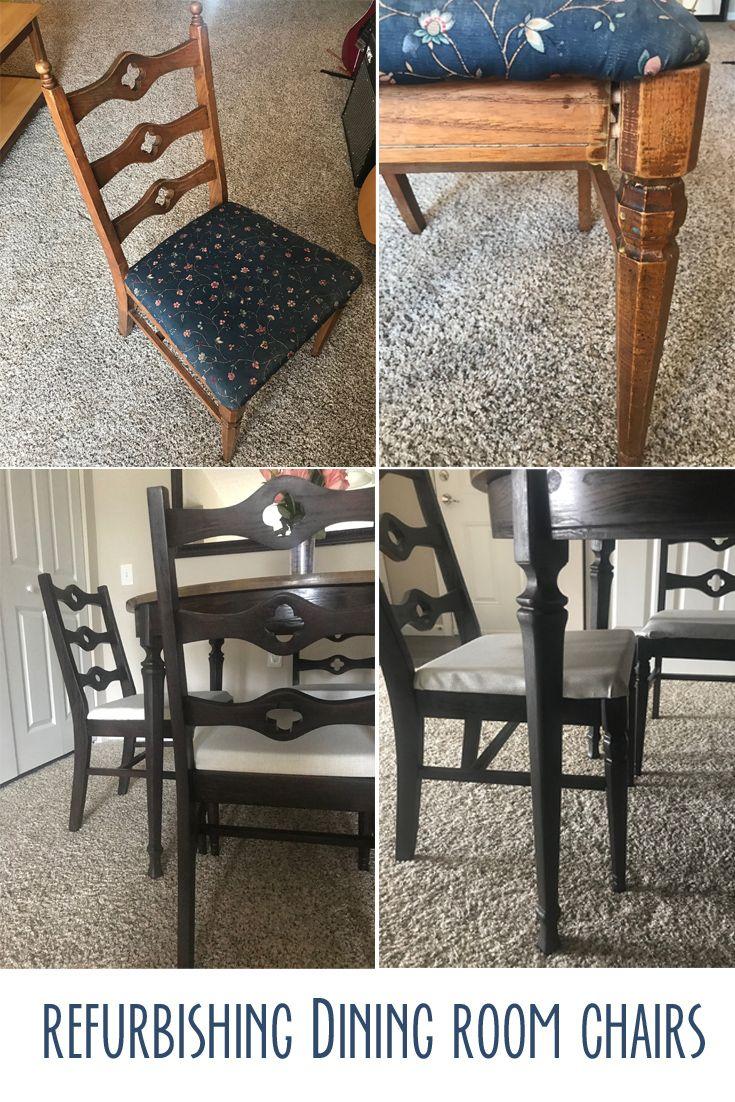 Refurbished Dining Chairs, Refurbishing Dining Room Chairs