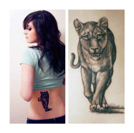 lioness tattoo I'd like to have this one done with the paw print and ...