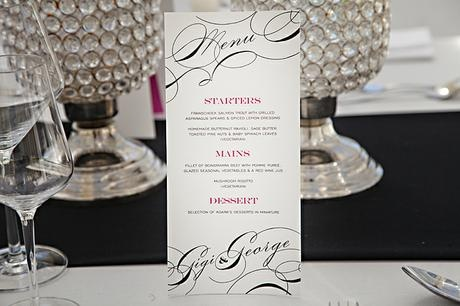 Menus for the table - Canvas Stationery Boutique
