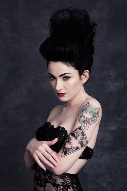 kitty cameo & tarot card inspired pin-up tattoos // sarah marie summer