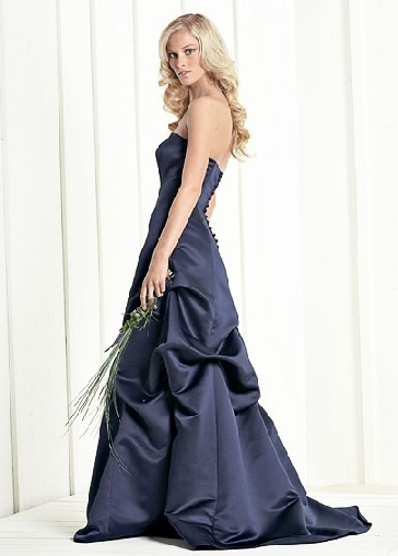 Midnight blue bridesmaid dresses dark blue weddings and for Midnight blue wedding dress