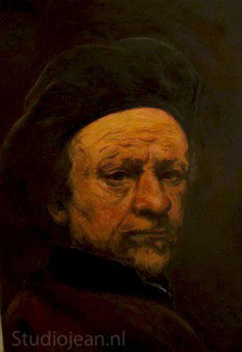 Rembrandt self portrait 1659 by Jean Elliot