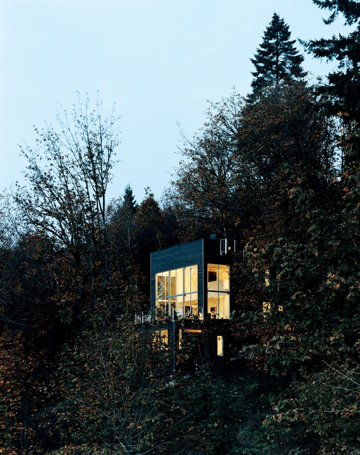Uninspired by the loft options in downtown Portland, Oregon, the Andréns opted to design and build their own freestanding version in the hills just minutes from the city.