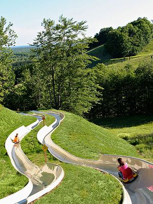 I only ever did this in a small town in Austria...if you get the chance...so fun!!! Best Ski Towns for Summer Vacations:  CRYSTAL MOUNTAIN, MICHIGAN