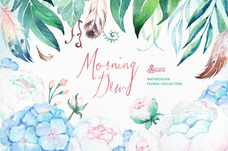 Morning Dew. Floral Collection by OctopusArtis on @creativemarket