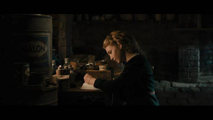The Book Thief--Liesel Meminger writing in the basement ...