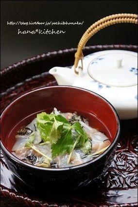 鯛茶漬けのレシピ。