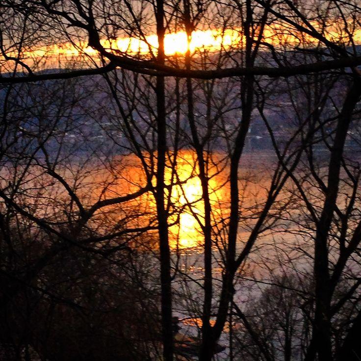På tur ned til sentrum #Sun #Sunset #Drøbak Marianne M