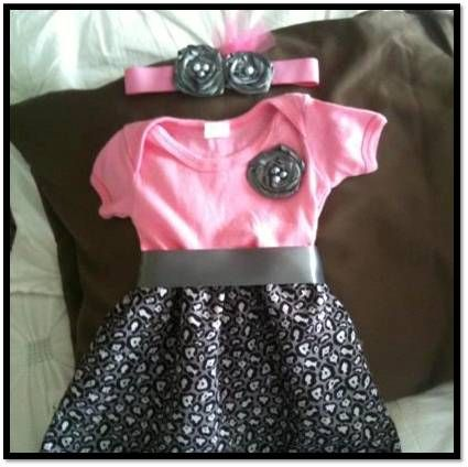 How to make a onesie dress.  Perfect project for beginner sewers!  Very easy